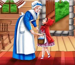 la mama de caperucita roja y su vestido