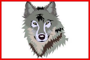 El lobo feroz de caperucita roja