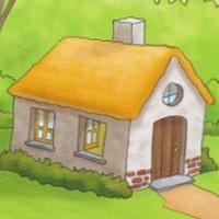 casa en el bosque de la abuela de caperucita roja