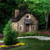 la casa en el bosque de la abuelita de caperucita