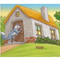 lobo en la casa de la abuelita de caperucita