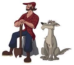 imágenes del leñador y el lobo