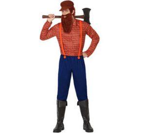 traje disfraz del leñador de caperucita roja