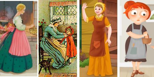 modelo disfraz madre caperucita roja
