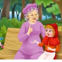 imagen abuelita y caperucita roja