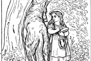 dibujo antiguo para pintar de caperuicta
