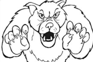 iluminar dibujo lobo feroz